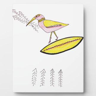 Birdy with twig arrows plaque