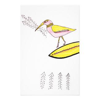 Birdy with twig arrows stationery