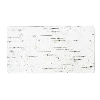 Birh bark label