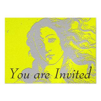 """Birh de Venus, diosa, alternativa Invitación 4.5"""" X 6.25"""""""