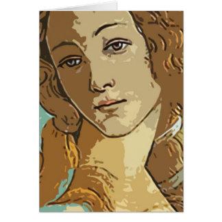 Birh de Venus, diosa Tarjeta De Felicitación