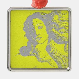 Birh of Venus, Goddess, Alternative Metal Ornament