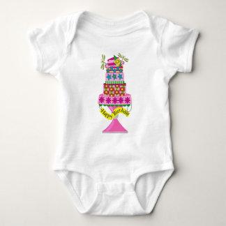 Birithday Cake Baby Bodysuit