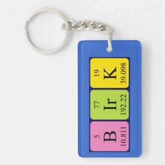 Birk periodic table name keyring Single-Sided rectangular acrylic keychain