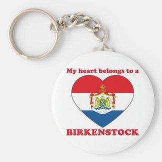 Birkenstock Basic Round Button Keychain