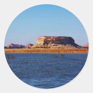 Birket al-Maraqi Lake in Siwa Oasis Classic Round Sticker