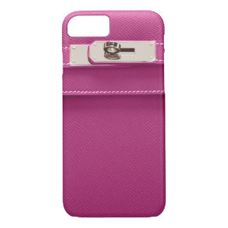 Birkin kelly leather handbag with silver closure iPhone 7 case