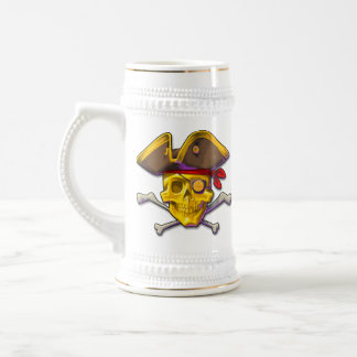 Birle el cráneo Stein del oro del oro Jarra De Cerveza