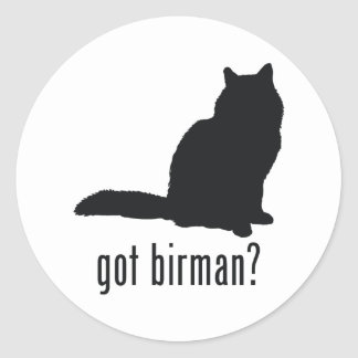 Birman Cat Classic Round Sticker
