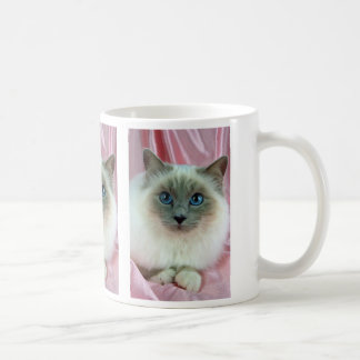 Birman, lilac point classic white coffee mug