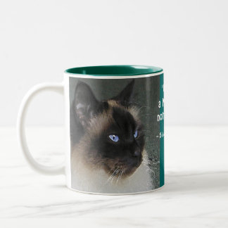 Birman Ragdoll Cat and Kitty Quote Two-Tone Coffee Mug