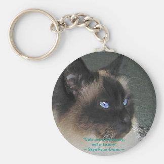 BIRMAN RAGDOLL CAT Collection Basic Round Button Keychain