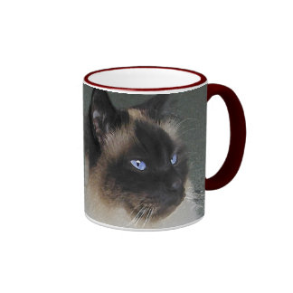 BIRMAN RAGDOLL CAT Collection Ringer Coffee Mug