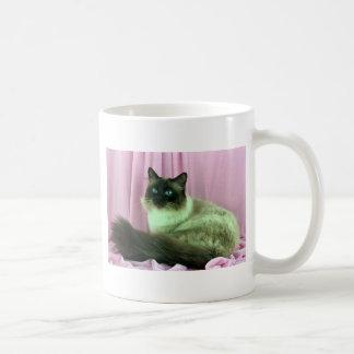 Birman, seal point classic white coffee mug