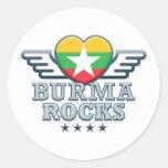 Birmania oscila v2 pegatina redonda
