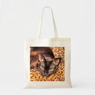 Birmano en cama del gato de leopardo bolsa tela barata