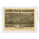 Birmingham, AL Panoramic Map - 1885 Greeting Card