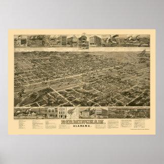 Birmingham, AL Panoramic Map - 1885 Poster
