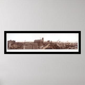 Birmingham, AL Skyline Photo 1914 Poster