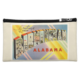 Birmingham Alabama AL Old Vintage Travel Souvenir Makeup Bag