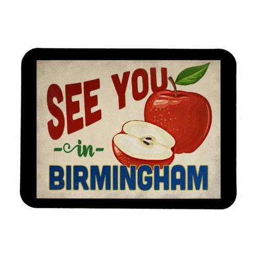 Birmingham Alabama Apple - Vintage Travel Magnet