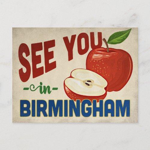 Birmingham Alabama Apple - Vintage Travel Postcard