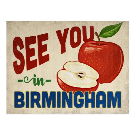 Birmingham Alabama Apple - Vintage Travel Postcard