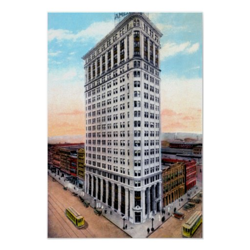 Birmingham Alabama Bank Building 1st and 20th Print