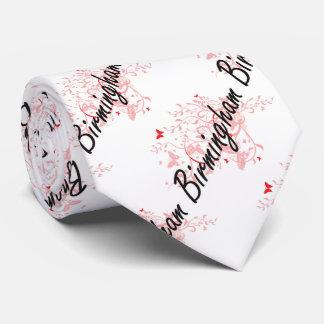 Birmingham Alabama City Artistic design with butte Neck Tie