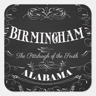Birmingham, Alabama - la Pittsburgh del sur Pegatina Cuadrada