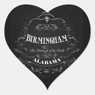 Birmingham, Alabama - la Pittsburgh del sur Pegatina En Forma De Corazón