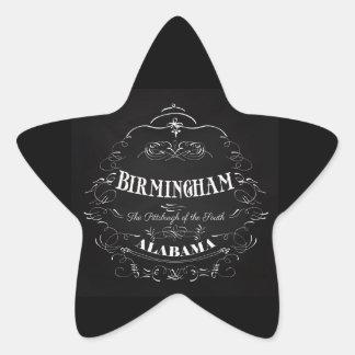 Birmingham, Alabama - la Pittsburgh del sur Pegatina En Forma De Estrella