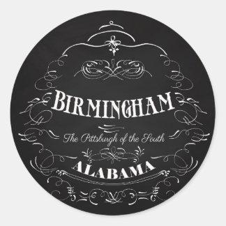 Birmingham, Alabama - la Pittsburgh del sur Pegatina Redonda