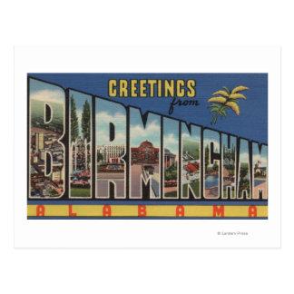 Birmingham, Alabama - Large Letter Scenes Postcard