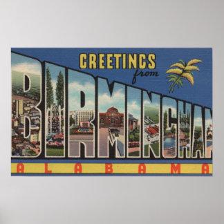 Birmingham, Alabama - Large Letter Scenes Poster