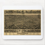 Birmingham Alabama Late 1800's Birds Eye View Mouse Pad
