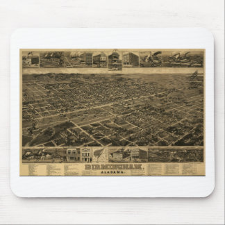 Birmingham Alabama Late 1800's Birds Eye View Mouse Pad