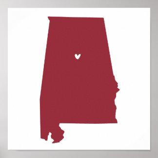 Birmingham, Alabama Love Posters