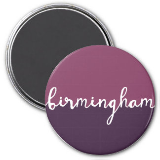 Birmingham, Alabama | Purple Circle Ombre Magnet