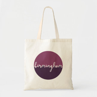 Birmingham, Alabama | Purple Circle Ombre Tote Bag