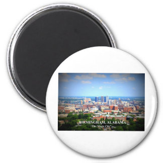 Birmingham, Alabama Skyline 2 Inch Round Magnet