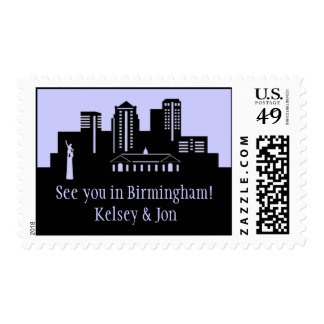 Birmingham, Alabama Skyline Postage Stamp