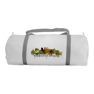 Birmingham Alabama Skyline Safari Buff Duffle Bag