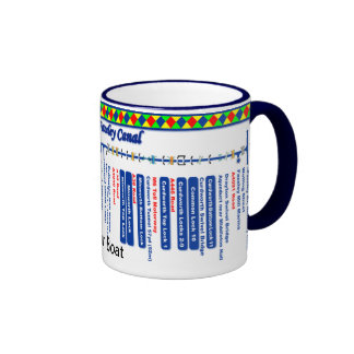 Birmingham and Faseley Canal Route Map Ringer Mug