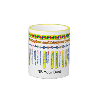 Birmingham and Liverpool Canal Route Map Ringer Mug