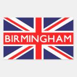 Birmingham: Bandera británica Pegatina Rectangular