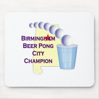 Birmingham Beer Pong Champion Mouse Pad