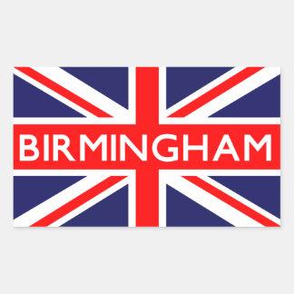 Birmingham : British Flag Rectangular Sticker