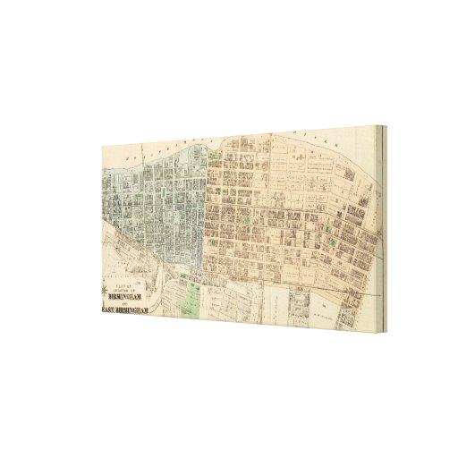 Birmingham, E Birmingham Impresión En Lona