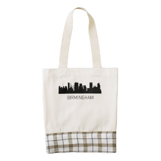 Birmingham England Cityscape Zazzle HEART Tote Bag